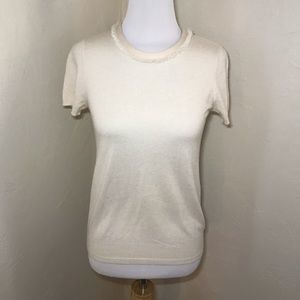 Tory Burch Cashmere Short Sleeve Sweater